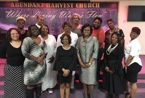 Events/hospitality staff. Elder Laconia Jones Team Leader