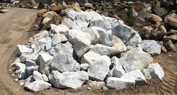 white granite rock