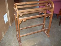 Nice Used Oak Quilt Rack $69.00