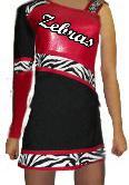 CHEER UNIFORM ZEBRA