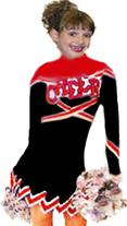 FULL FLYAWAY POINTED CHEER UNIFORM