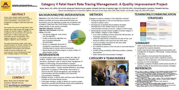 Category II Fetal Heart Rate Tracing Management: A Quality Improvement Project