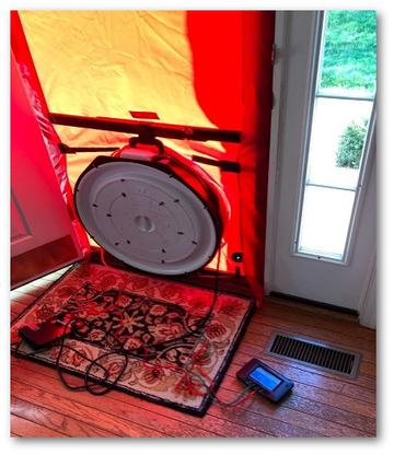 Blower door test Clarksville, MD