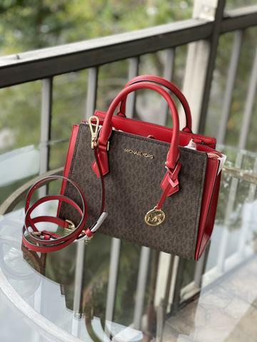 Michael Kors Women Leather Crossbody Bag Handbag Purse Satchel Shoulder Brown MK $154.60