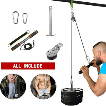 Fitness DIY Pulley Cable Machine Set Biceps Triceps Arm Strength Training ✅ US Stock ✅ FAST FREE 2-Day Shipping $24.99
