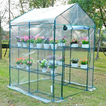 5'x5'x6' Portable Walk-In Greenhouse 8 Shelves Plant Flower Gardening House $85.99