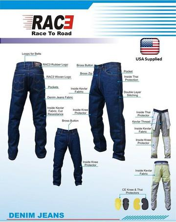 New RAC3 Motorcycle Motorbike Denim Jeans Trouser Protective Armored Lining Blue eBay checkout
