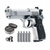 Beretta M92FS Air Gun Pistol with CO2 Tanks and 500 Lead Pellets Bundle
