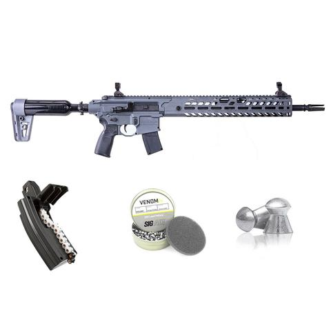 Sig Sauer Airgun Virtus .22 cal Rifle with Venom Lead Pellet and Magazine Bundle