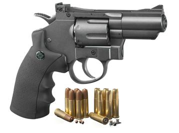 Crosman CO2 Dual Ammo Full Metal Revolver Air Gun Pistol - BB & Pellet - SNR357