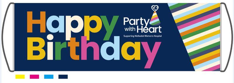 Mega Plus Birthday Banner