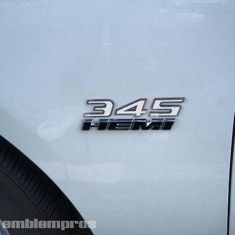 "HEMI /""345/"" Emblem Badge Mirror Stainless Steel Color"